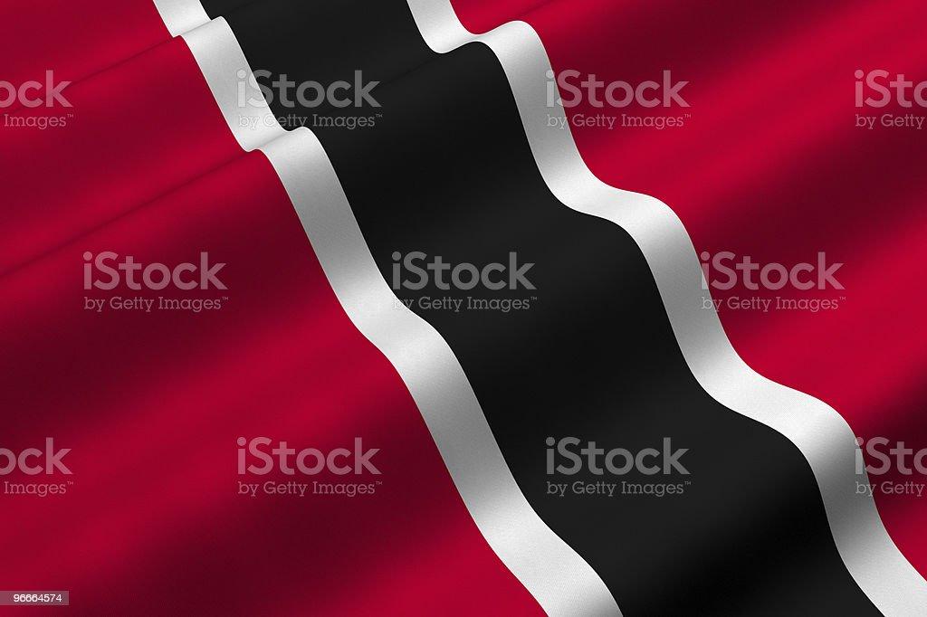 Trinidad and Tobago Flag royalty-free stock photo