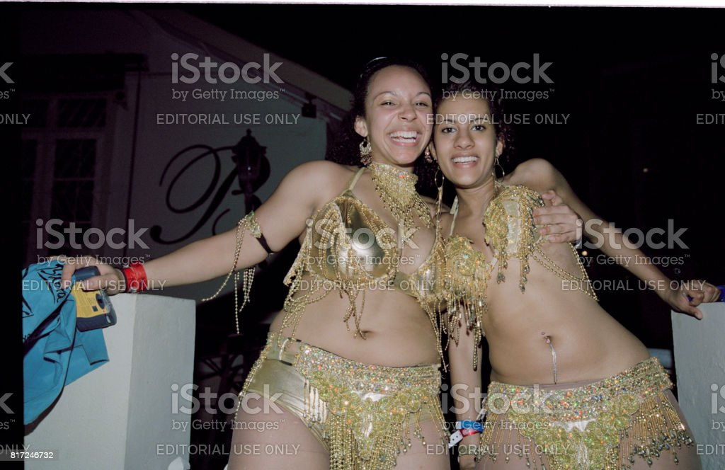 Trinidad Carnival 2006 Lundi Bikini Mas' Couple stock photo