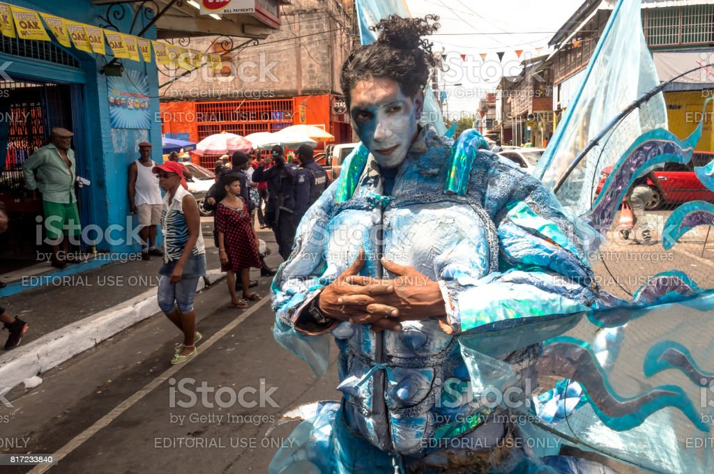 Trinidad Carnival 2015 Blue Dragon stock photo