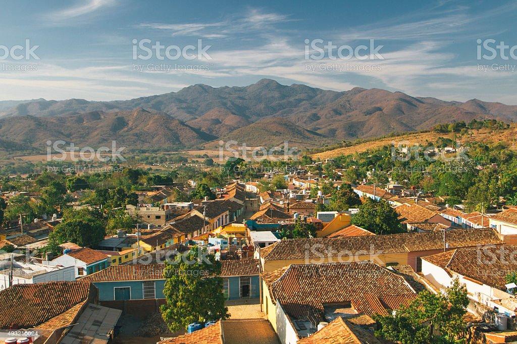 Trinidad, Cuba landscape stock photo