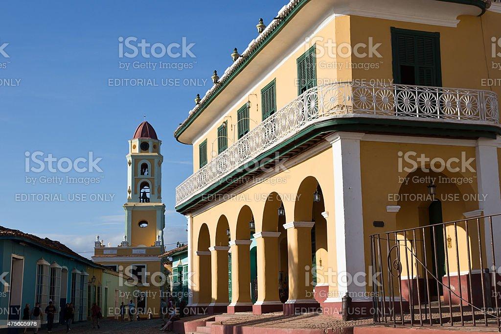 Trinidad, Cuba - Museo Romantico and Iglesia San Francisco stock photo