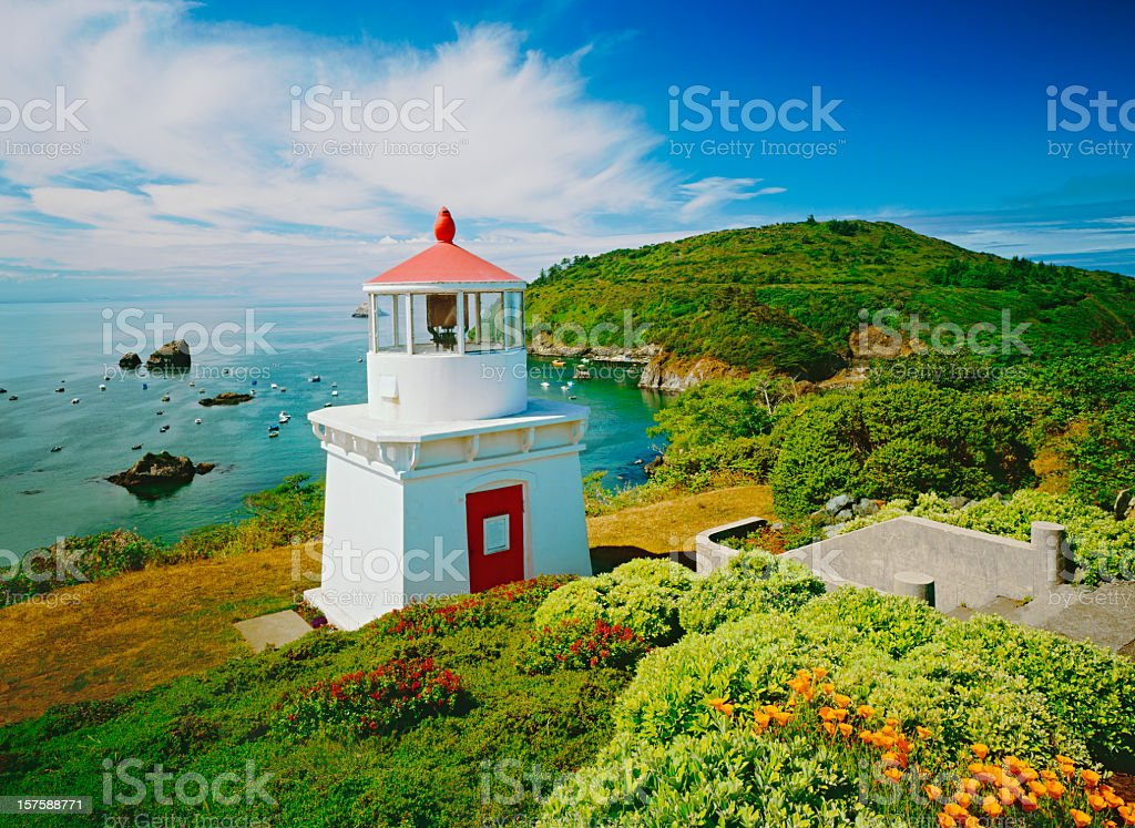 Trinidad Lighthouse Northern Calif. royalty-free stock photo