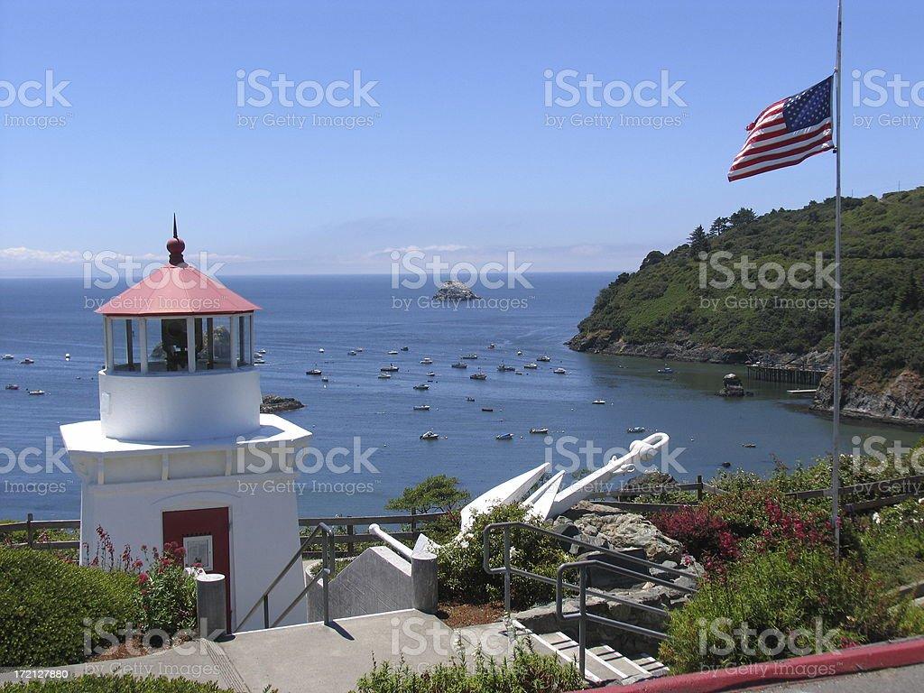 Trinidad lighthouse stock photo