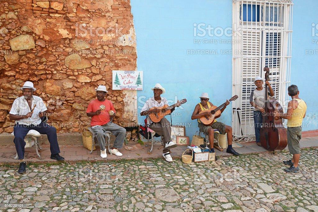 Trinidad musicians stock photo