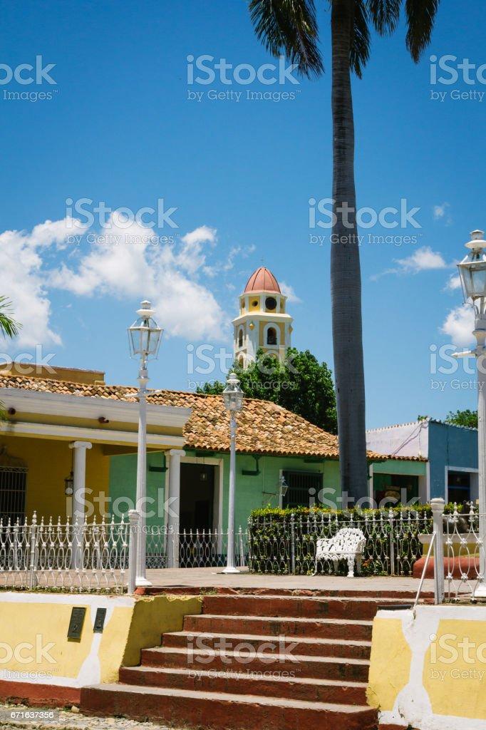 Trinidad Plaza Mayor and Museo Histórico Municipal stock photo