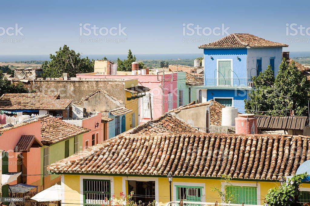 Trinidad roofs, Cuba stock photo