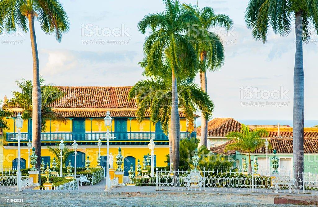 Trinidad town square stock photo