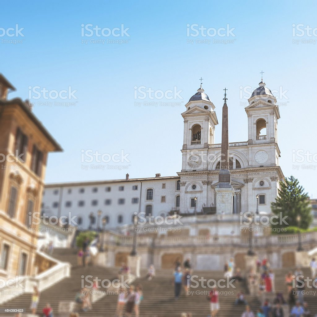 Trinita dei monti church in rome royalty-free stock photo