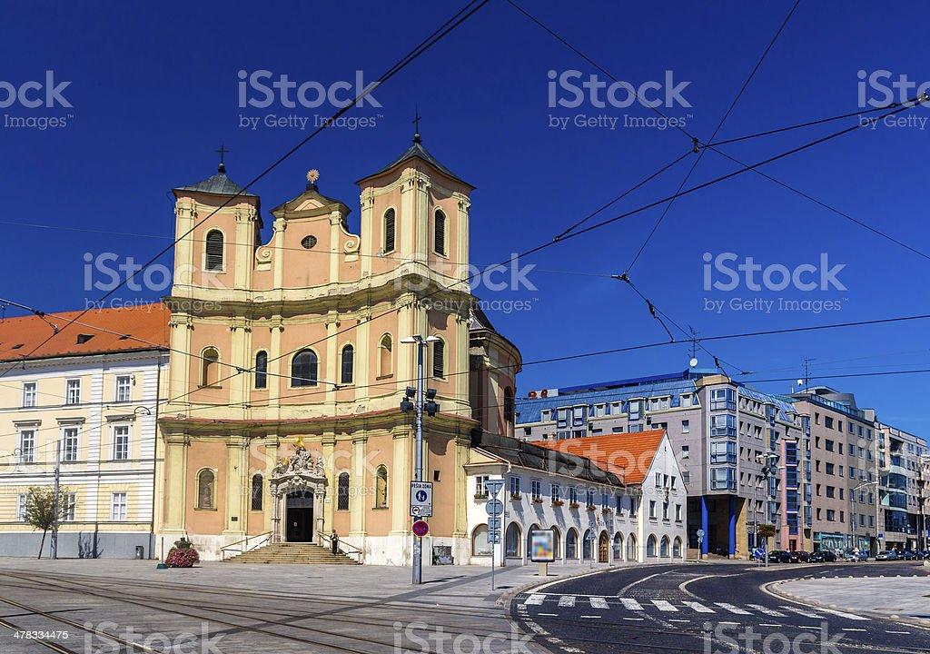 Trinitarian Church in Bratislava Old Town - Slovakia stock photo