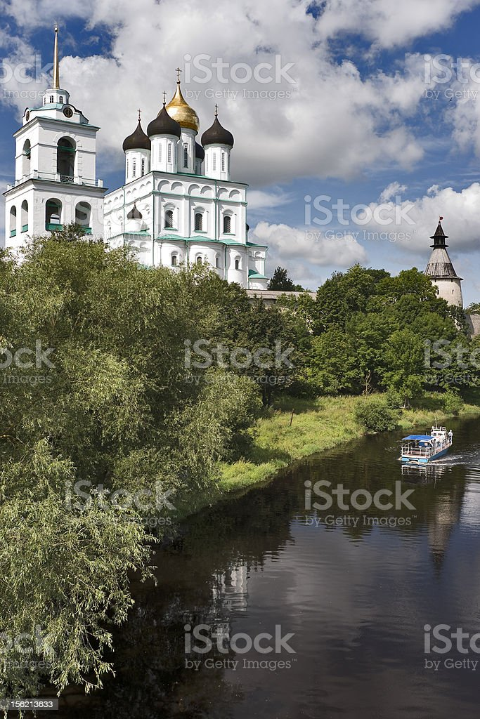 Trinity cathedral and river royalty-free stock photo