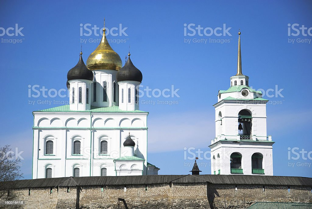 Trinity Cathedral in the Pskov royalty-free stock photo