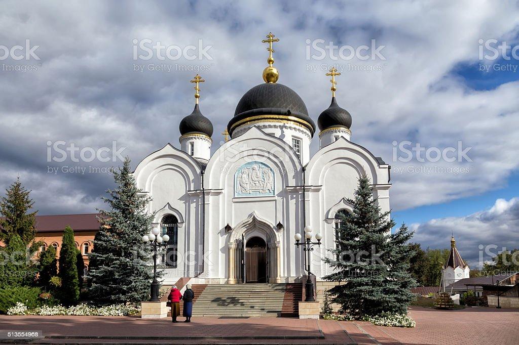 Trinity Cathedral. St. Tikhon Transfiguration Monastery. Zadonsk. Russia stock photo