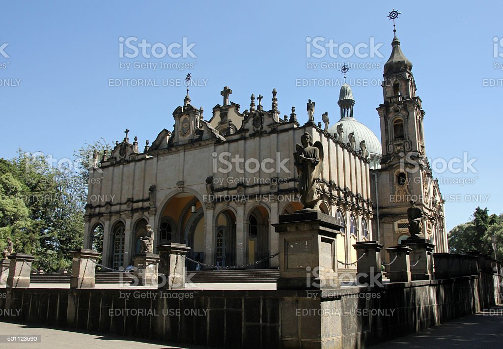 Trinity Church, Addis Ababa stock photo