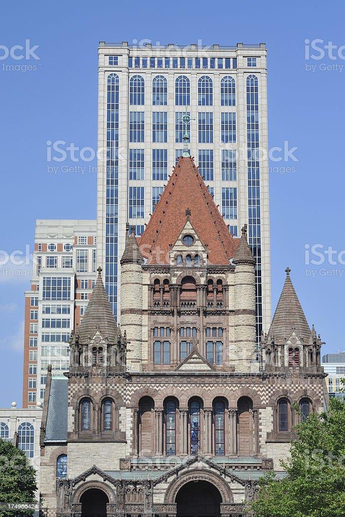 Trinity Church in Boston royalty-free stock photo