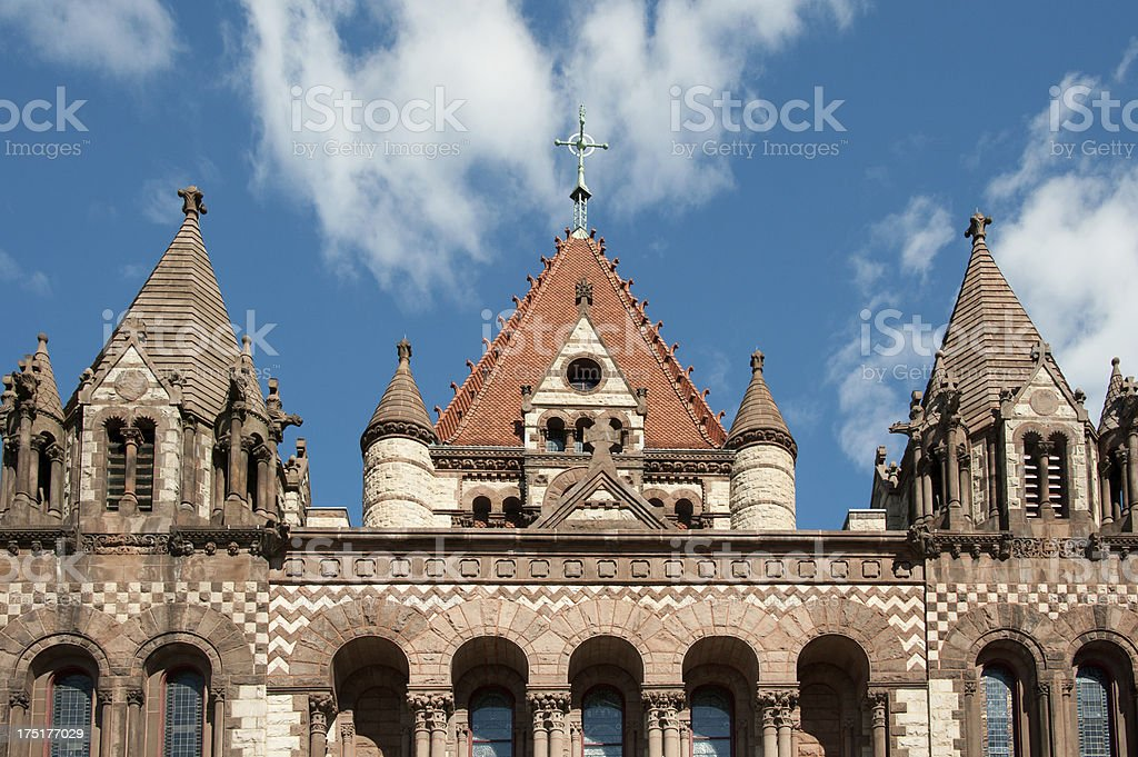 Trinity Church in Boston royalty-free stock photo