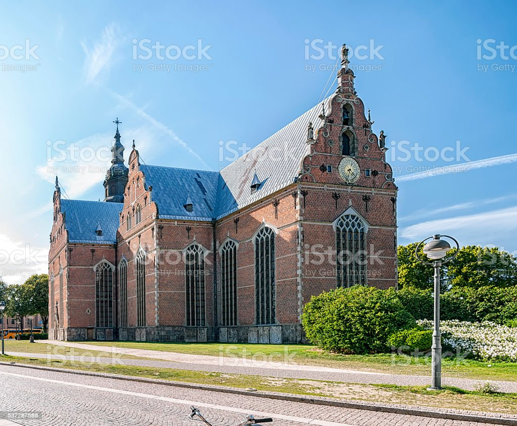 Trinity Church in Kristianstad stock photo