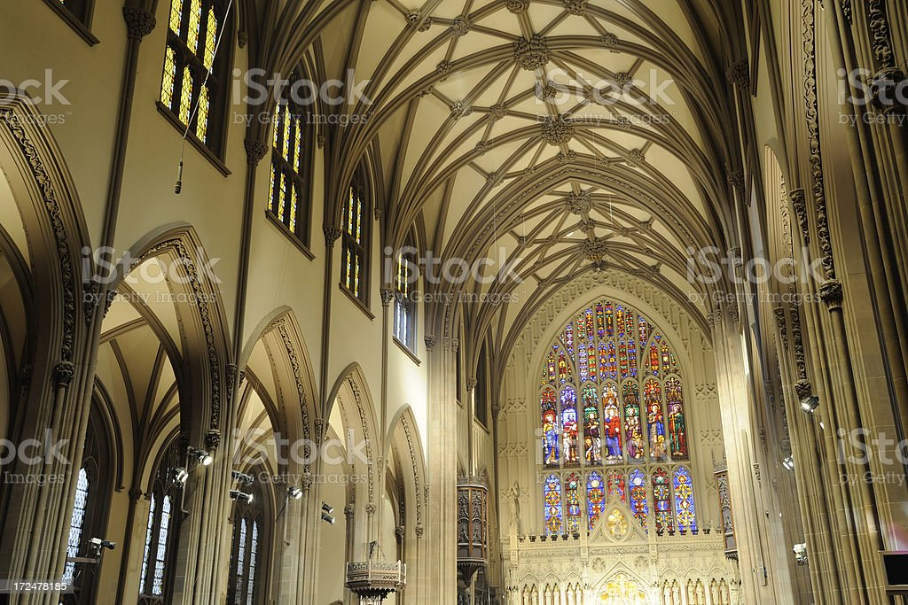 Trinity Church in Manhattan royalty-free stock photo