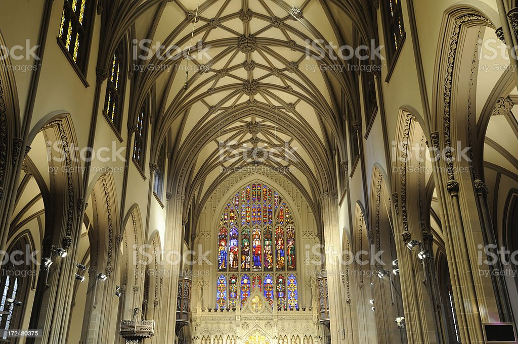 Trinity Church in Manhattan stock photo