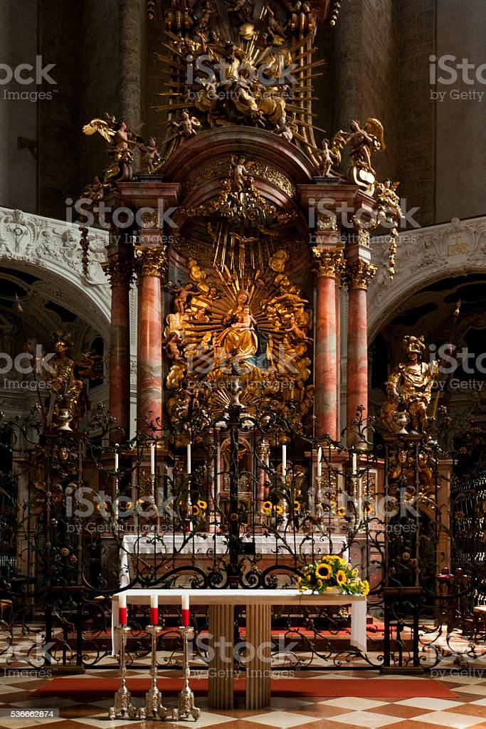 Trinity church interior - Salzburg stock photo