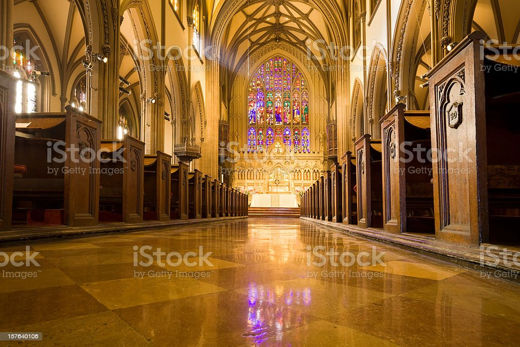Trinity Church, New York City stock photo