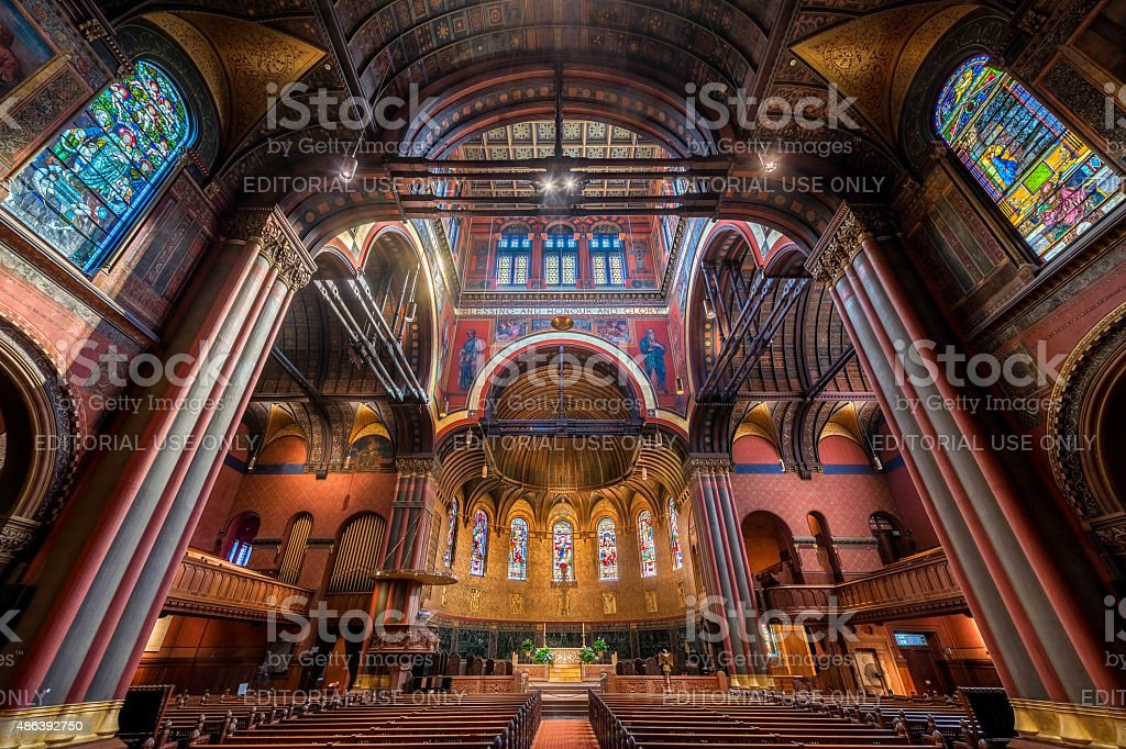 Trinity Church of Boston stock photo