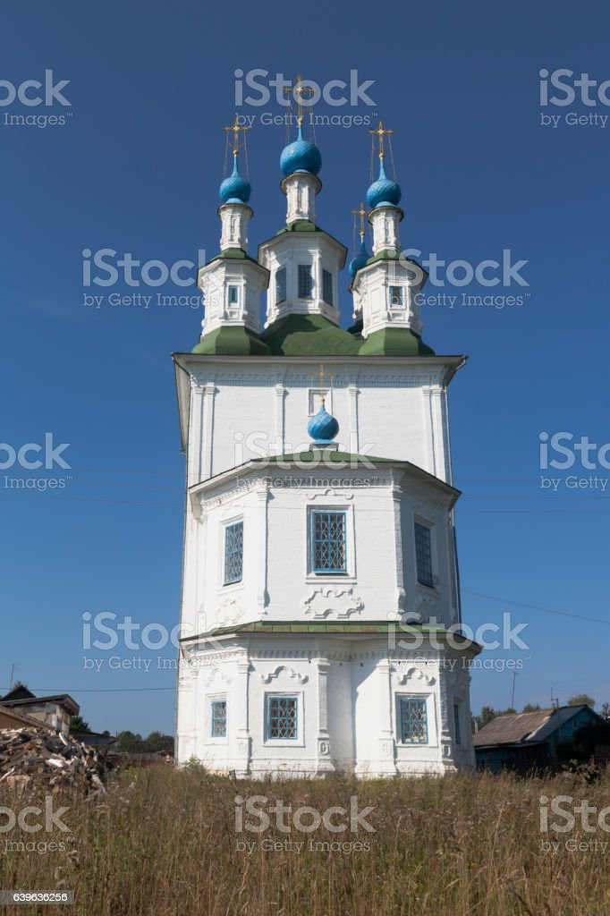 Trinity Church on the Green in the city of Totma stock photo