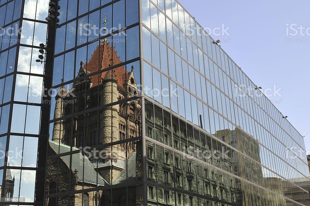 Trinity Church Reflection royalty-free stock photo