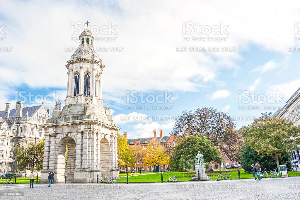 Trinity College Belfry stock photo