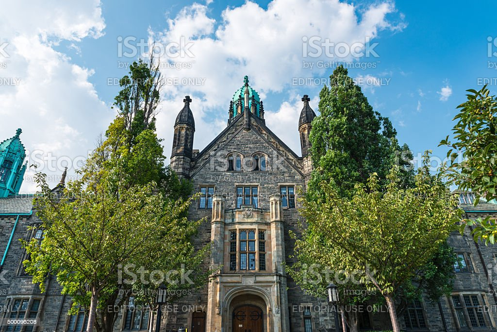 Trinity College building in Toronto, Canada stock photo
