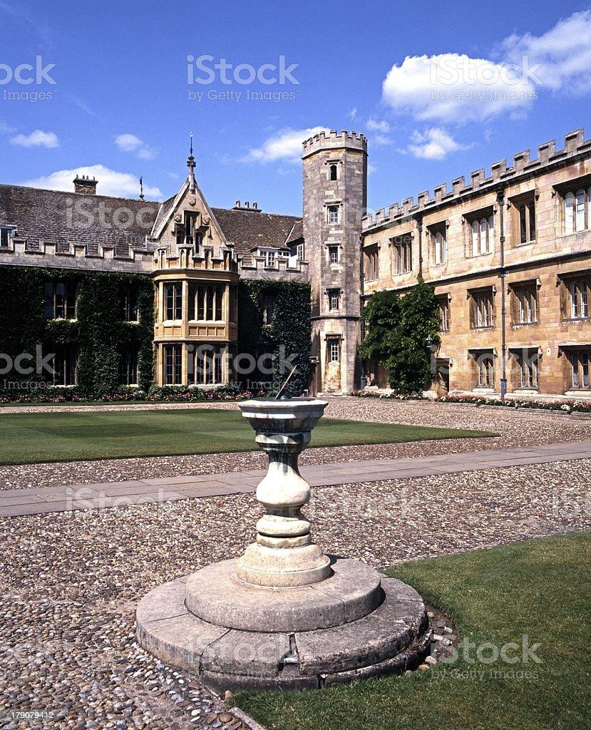 Trinity College, Cambridge, England. stock photo