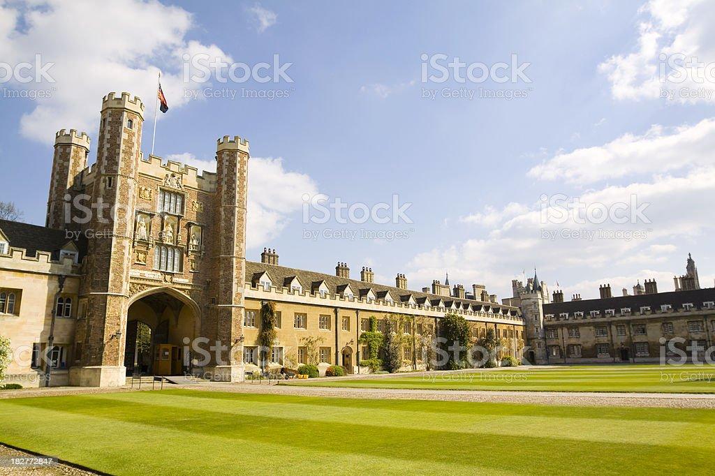 Trinity College Cambridge stock photo