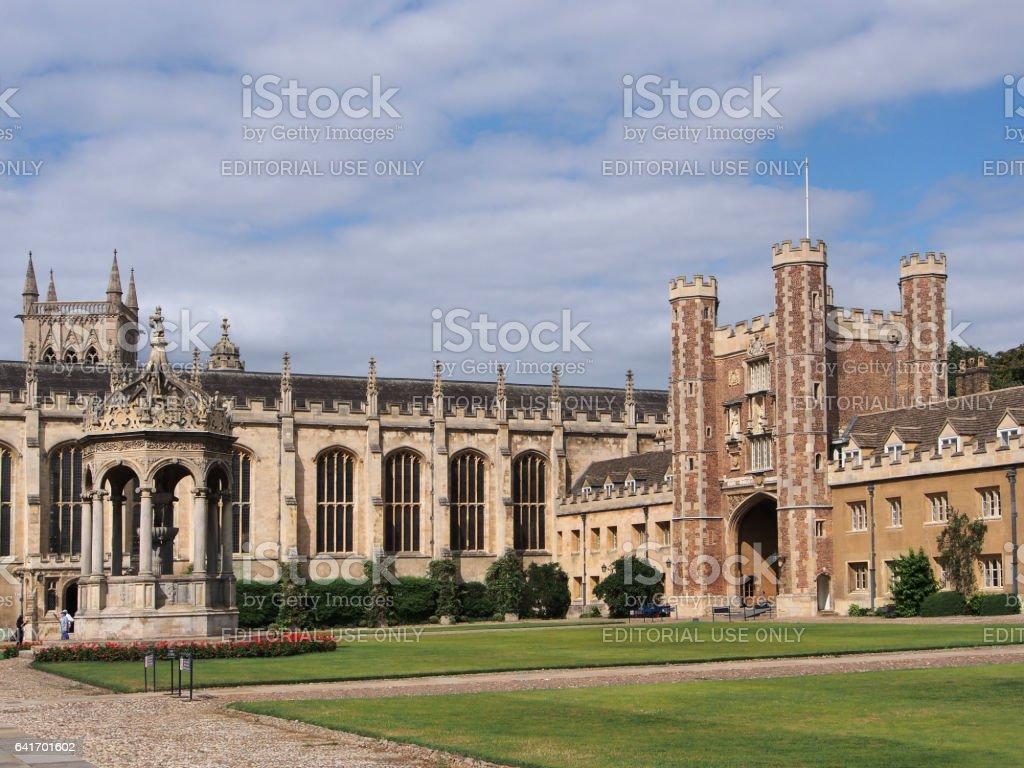 Trinity College, Cambridge University stock photo