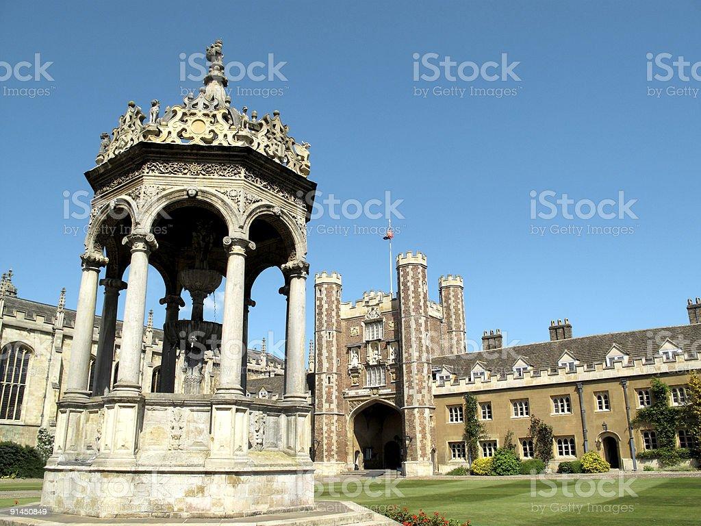 Trinity College Cambridge University stock photo