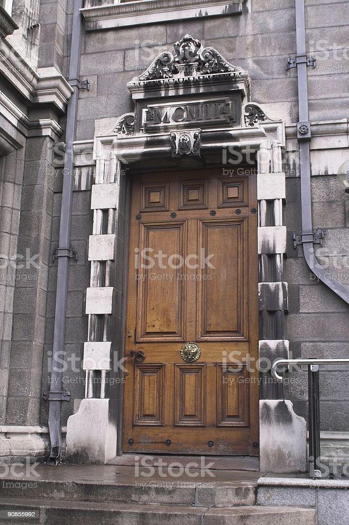 Trinity College Chapel door, Dublin royalty-free stock photo