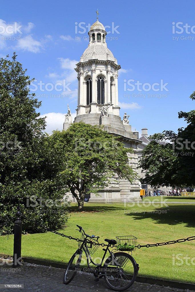 Trinity College detail in Dublin stock photo