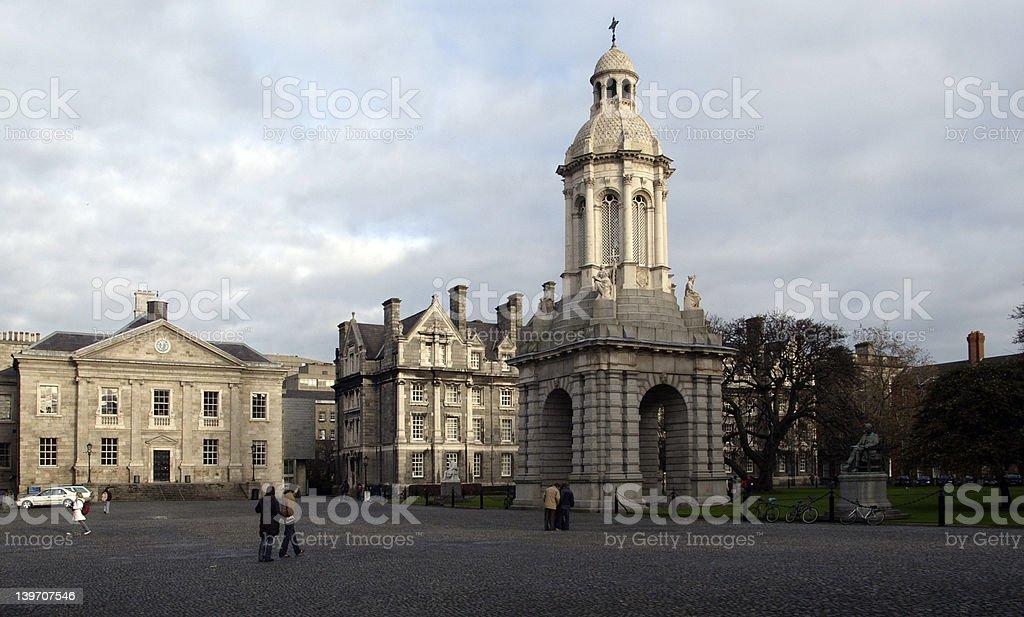 Trinity College, Dublin, courtyard stock photo