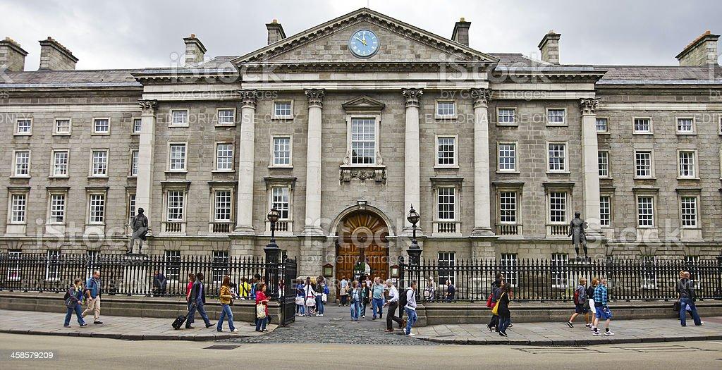Trinity College, Dublin, Ireland - Front Arch/Main entrance stock photo