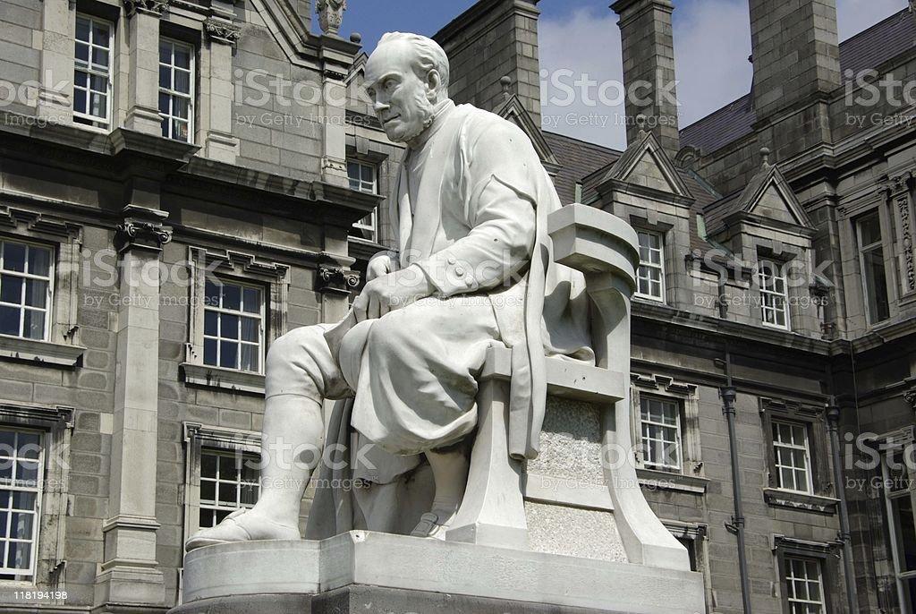Trinity college in Dublin, Ireland stock photo