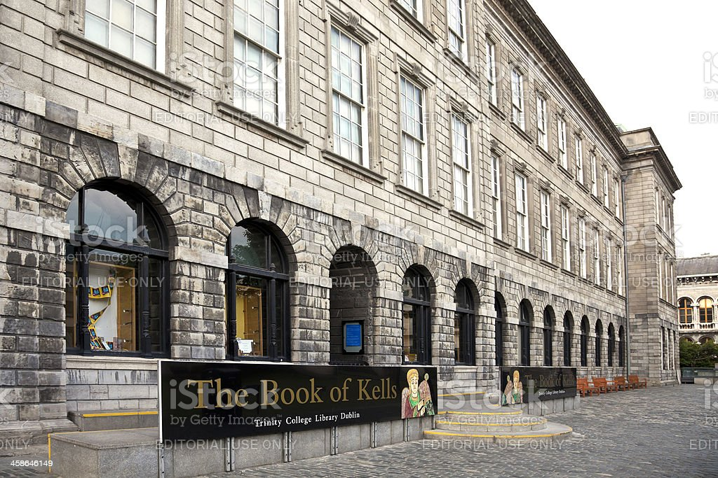 Trinity College Library, Dublin: home to the Book of Kells stock photo