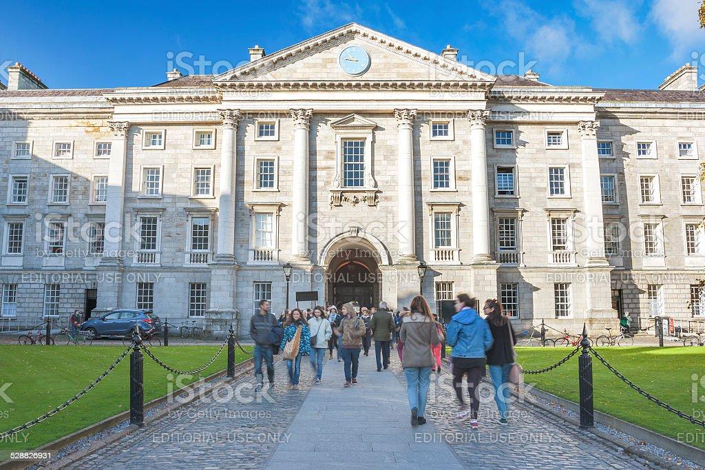 Trinity College of Dublin stock photo