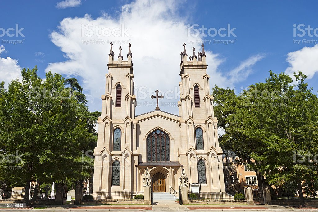 Trinity Episcopal Cathedral In Columbia, South Carolina royalty-free stock photo