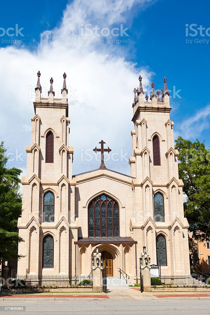 Trinity Episcopal Cathedral In Columbia, South Carolina royalty-free stock photo
