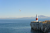 Trinity Lighthouse Europa Point at Strait of Gibraltar