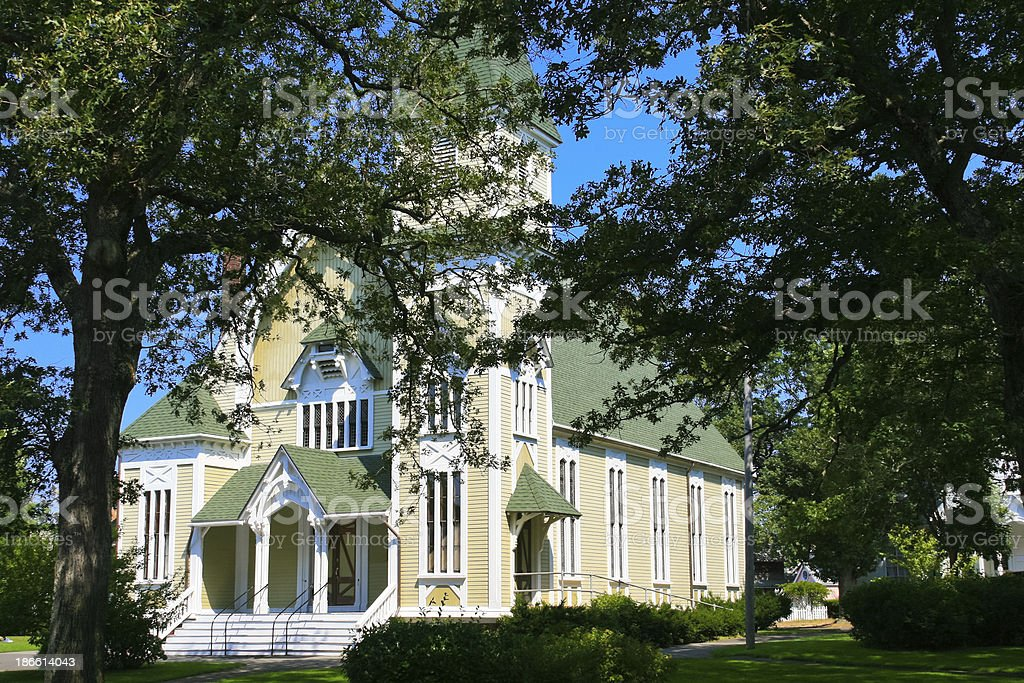 Trinity Methodist Church, Martha's Vineyard. stock photo