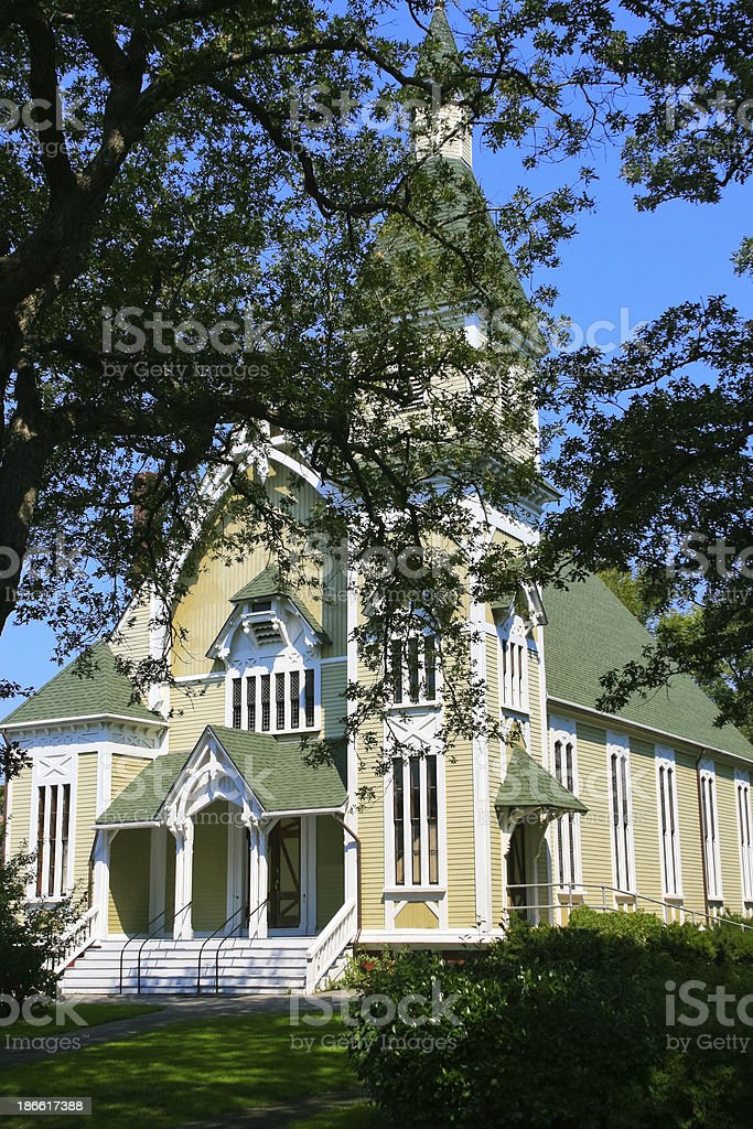 Trinity Methodist Church, Martha's Vineyard. royalty-free stock photo