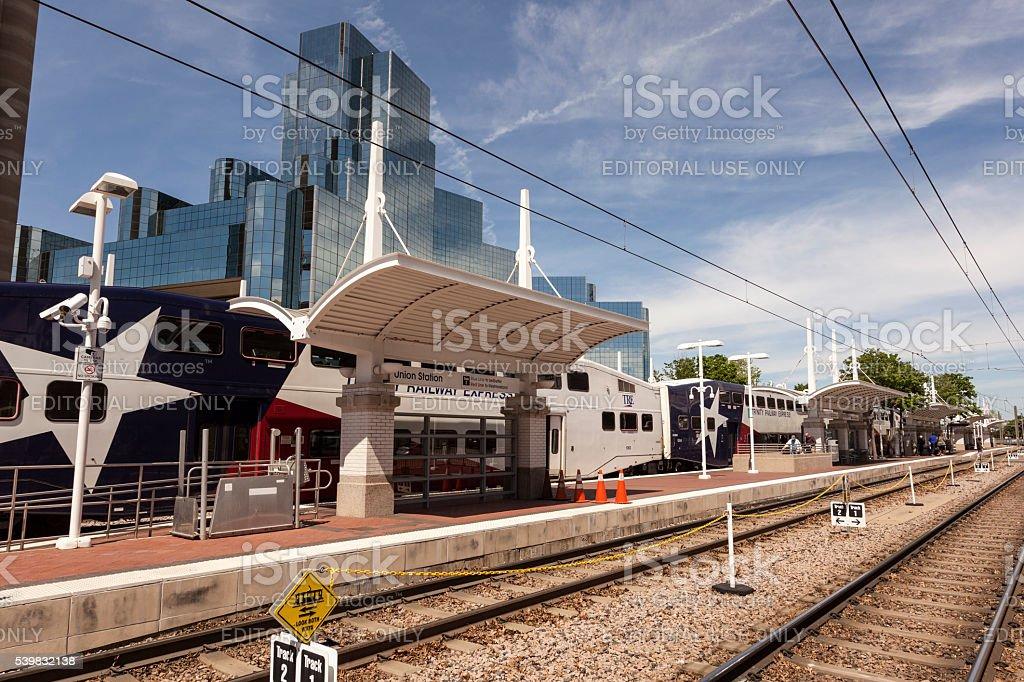 Trinity Railway Express in Dallas, USA stock photo