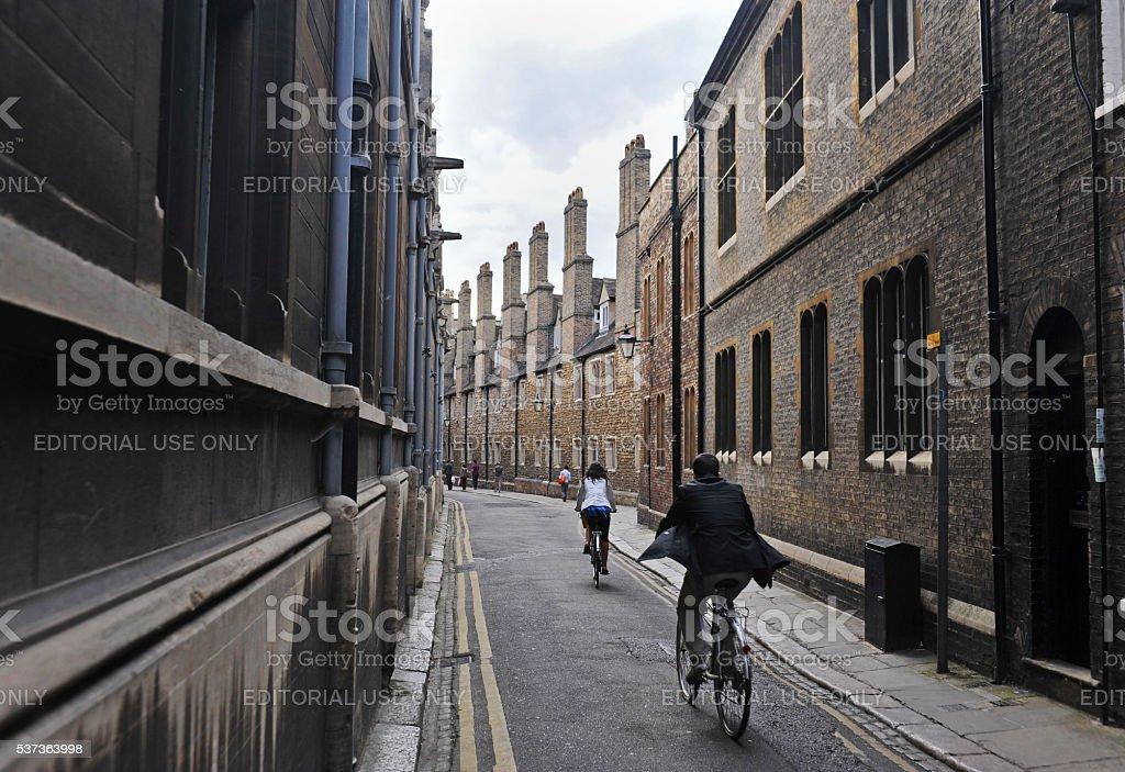 Trinity Street Cambridge stock photo