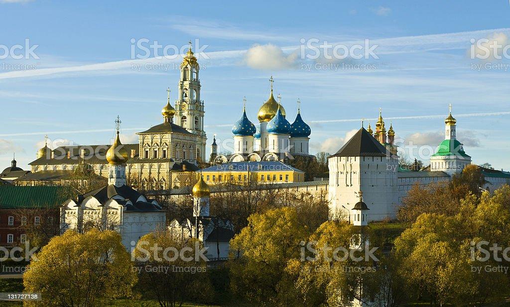 Trinity-Sergey lavra monastery, Russia royalty-free stock photo