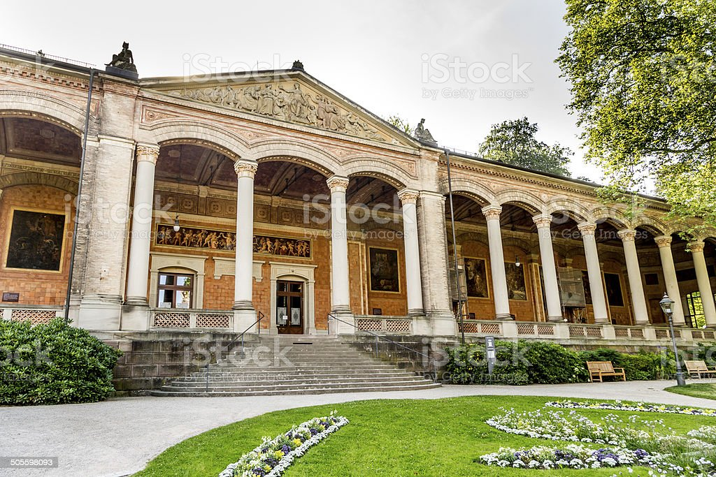 Trinkhalle ,pump house in the Kurhaus spa complex in Baden-Baden stock photo