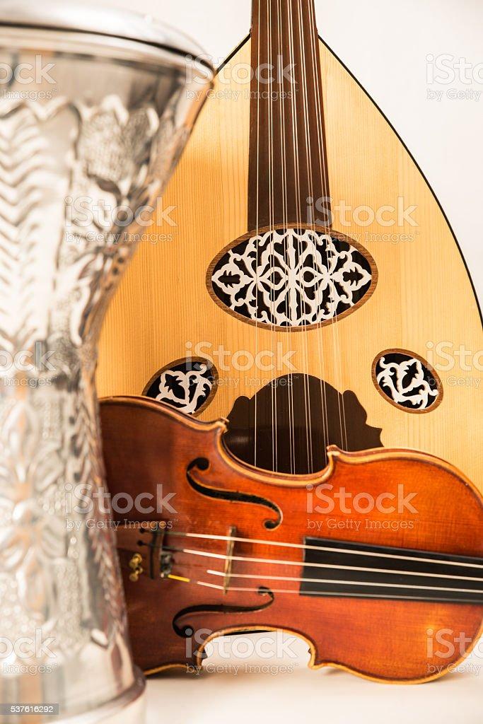 trio de instrumentos de oriente stock photo